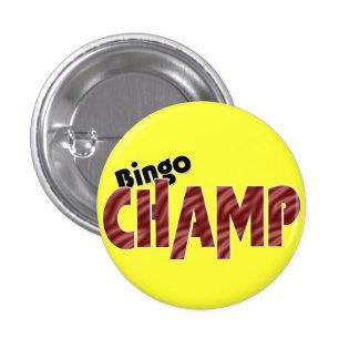 Botón de Pinback del estilo de Vegas del campeón d