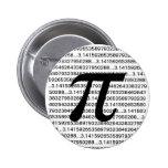 Botón de Pinback del friki de la matemáticas del p