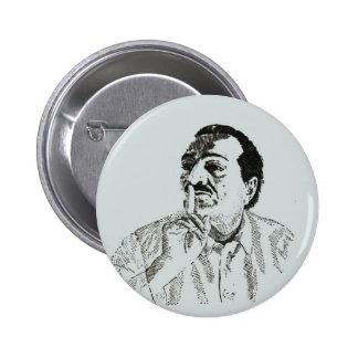 Botón de Pinback del silencio del bizcocho borrach