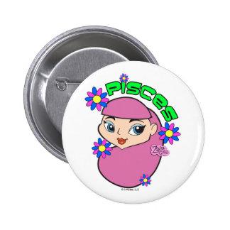 Botón de Piscis Pin Redondo De 2 Pulgadas