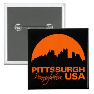 Botón de PITTSBURGH Pin Cuadrado