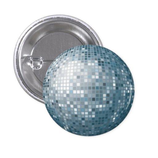 Botón de plata de la bola de discoteca pins