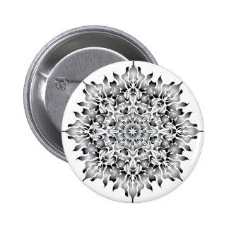 Botón de plata del blanco de la llama pin