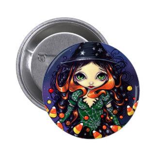 """Botón de """"poca bruja del caramelo"""" pin redondo de 2 pulgadas"""