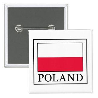 Botón de Polonia Pin Cuadrado