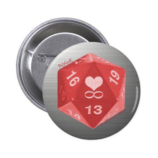 Botón de PolyGeek - rosa Pin