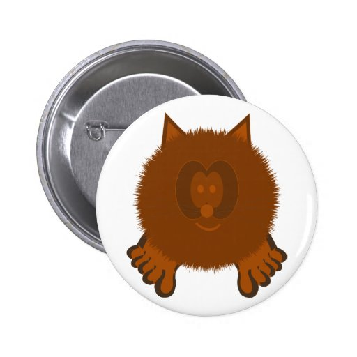 Botón de Pom Pom PAL del gato de Brown