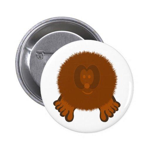 Botón de Pom Pom PAL del Tumbleweed Pin