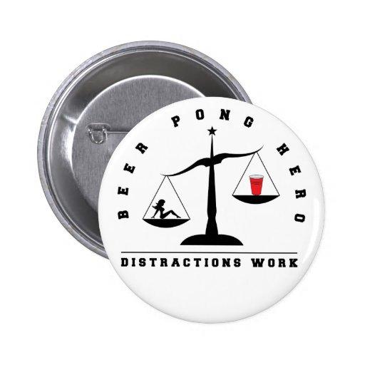 Botón de Pong de la cerveza de la distracción Pin Redondo De 2 Pulgadas