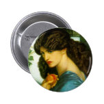 Botón de Proserpine de Dante Gabriel Rossetti Pins