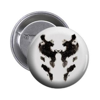 botón de prueba de la mancha blanca /negra de la t pin redondo de 2 pulgadas