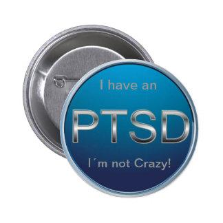 Botón de PTSD Pin Redondo De 2 Pulgadas