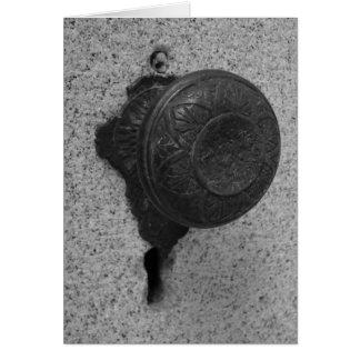 Botón de puerta - tarjeta de nota
