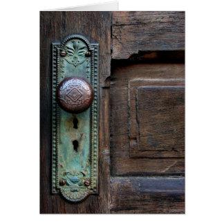 Botón de puerta viejo - tarjetas