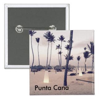 Botón de Punta Cana Pin Cuadrado