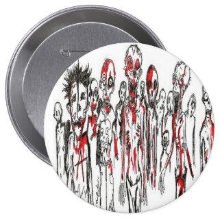 Botón de Punx del zombi Pin Redondo De 4 Pulgadas