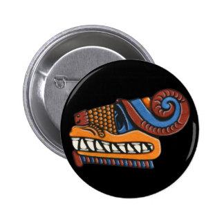 Botón de Quetzalcoatl Pin Redondo De 2 Pulgadas