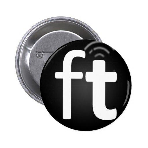 Botón de radio de Freethought Pin Redondo De 2 Pulgadas