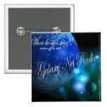 Botón de radio de la red azul de la galaxia pin