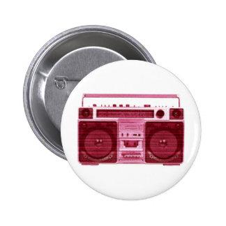 botón de radio retro pin redondo de 2 pulgadas