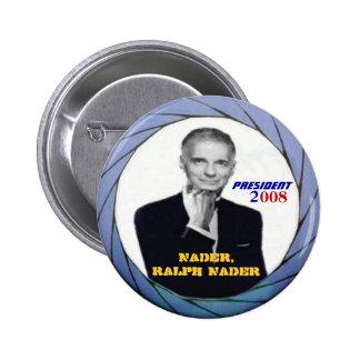 Botón de Ralph Nader Pin Redondo De 2 Pulgadas