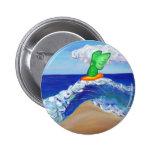 Botón de Raphael del ángel que practica surf Pin