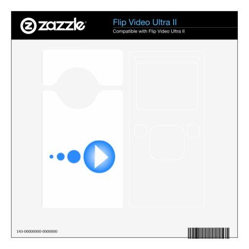 Botón de reproducción azul skins para flip ultra II