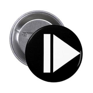 Botón de reproducción pin redondo de 2 pulgadas