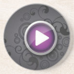 Botón de reproducción posavasos personalizados