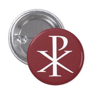 Botón de rho de la ji pin redondo de 1 pulgada