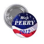Botón de Rick Perry 2012 Pin Redondo De 1 Pulgada