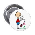 Botón de riego de las flores pin