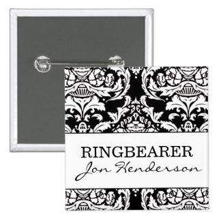 Botón de Ringbearer Pin Cuadrado