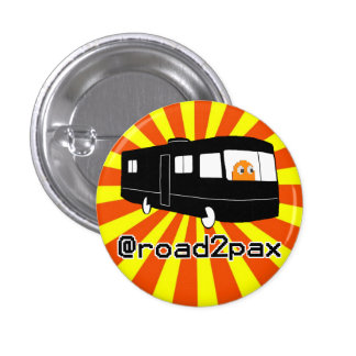 Botón de Road2PAX llamativo Pin