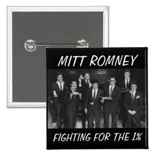 Botón de Romney del Anti-Mitón Pin Cuadrado