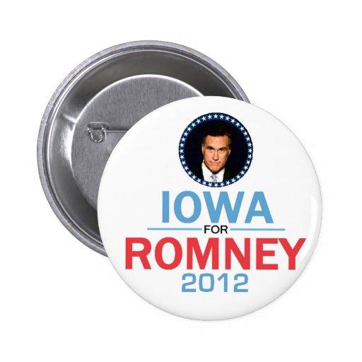 Botón de Romney Iowa Pin