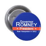 Botón de Romney NH 2012 Pins