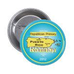 Botón de Romney PUERTO RICO Pins