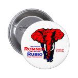 Botón de Romney Rubio 2012 Pin