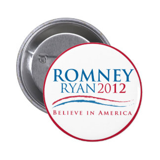 Botón de Romney-Ryan 2012 Pin