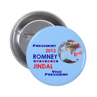 Botón de ROMNEY y de JINDAL 2012 Pin