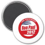 Botón de Ron Paul 2012 Imán De Frigorífico