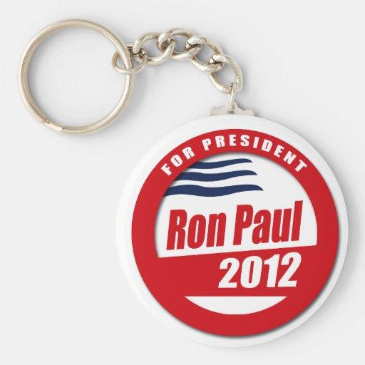 Botón de Ron Paul 2012 Llaveros Personalizados
