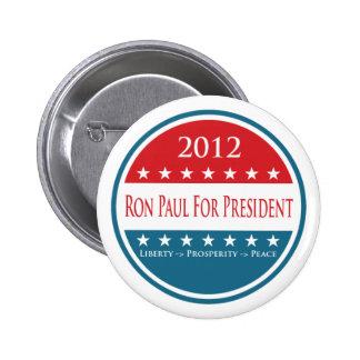 Botón de Ron Paul 2012 Pin Redondo De 2 Pulgadas