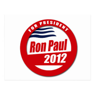 Botón de Ron Paul 2012 Tarjeta Postal