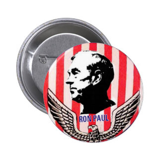 Botón de Ron Paul Eagle y de las rayas Pin Redondo De 2 Pulgadas