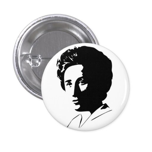 Botón de Rosa Luxemburg Pin