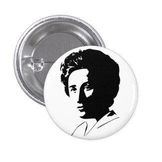 Botón de Rosa Luxemburg Pin Redondo De 1 Pulgada