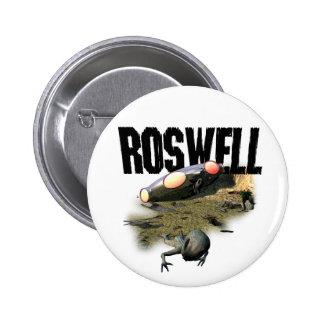 Botón de Roswell Pin Redondo De 2 Pulgadas