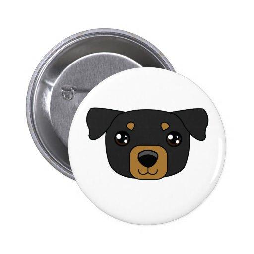 Botón de Rottweiller Pin Redondo De 2 Pulgadas
